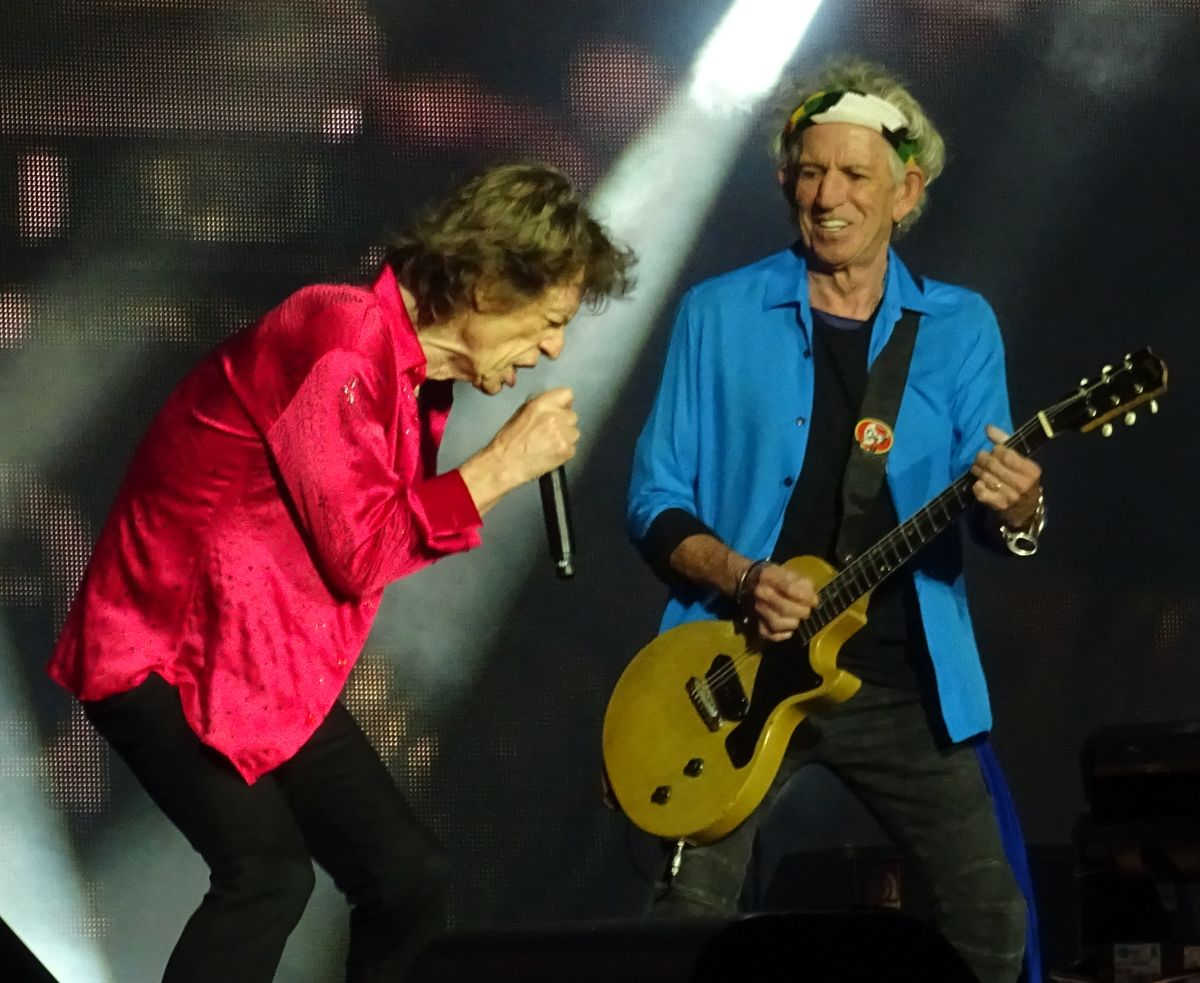 The Rolling Stones live at Murrayfield stadium, Edinburgh UK