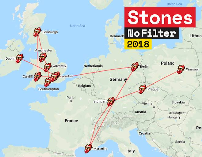 The Rolling Stones No Filter UK/Europe Tour 2018 Rolling Stones Tour 2018