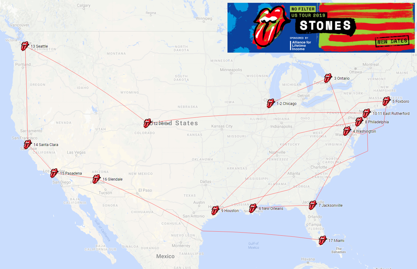 The Rolling Stones No Filter Tour USA 2019