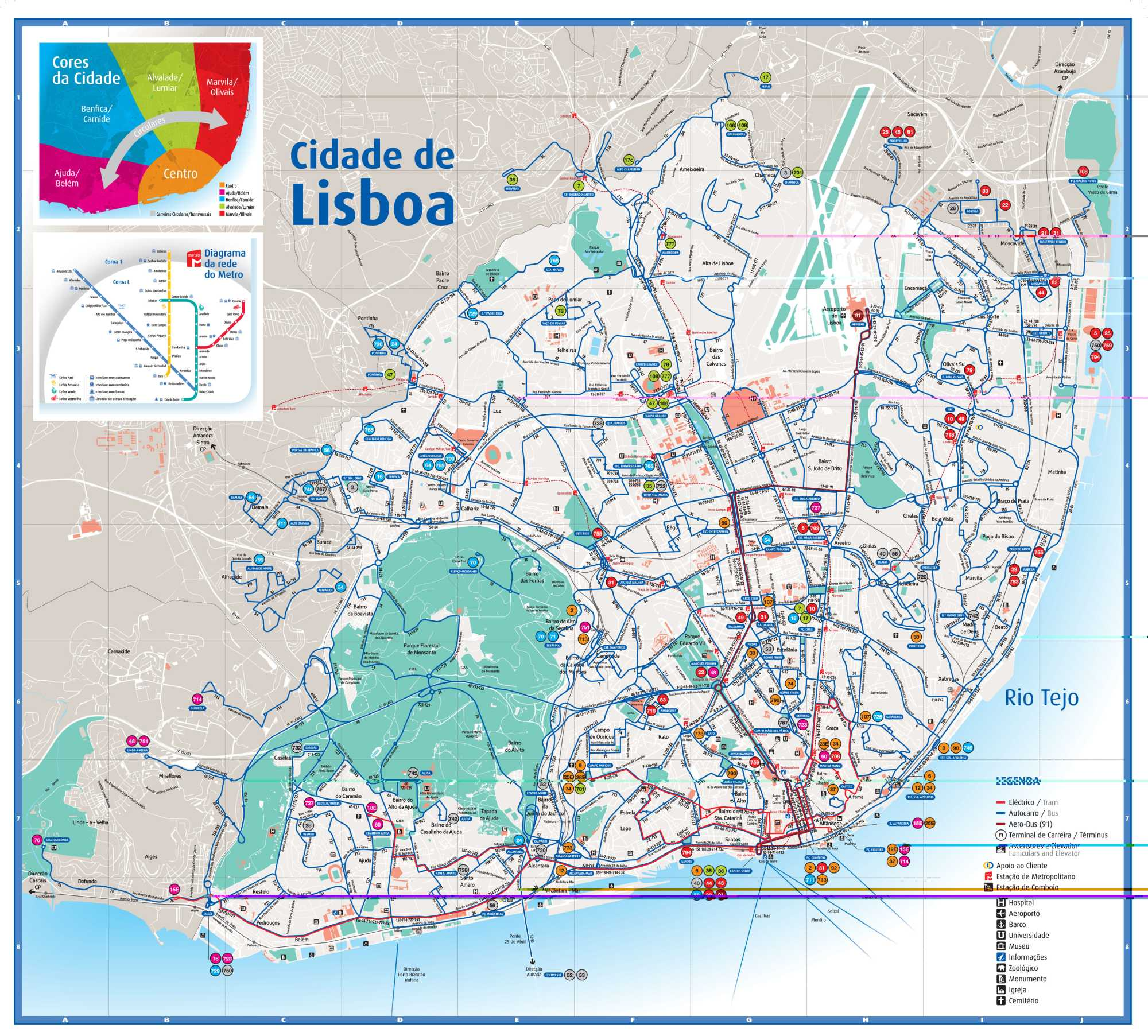 The Rolling Stones in Lisbon A Bigger Bang European Tour travel – Lisbon Tourist Map Printable